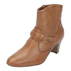 La Briza Womens Tan Synthetic Boots 8-UK