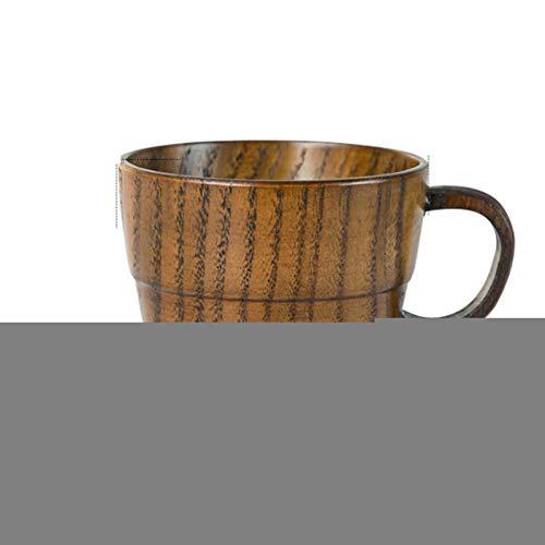 GDCAKMI UPORS Natürliche Jujube Holz Tasse mit Henkel Eco Friendly Primitive Handmade Holz Japanische Teetasse Massivholz Tee Milch Kaffeetasse