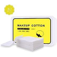 Almohadilla de algodón puro para maquillaje facial, almohadillas de algodón suave orgánico, algodón puro