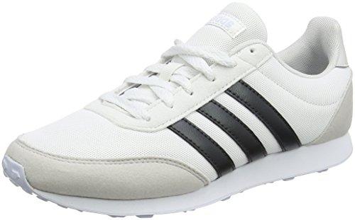 Adidas V Racer 2.0 W, Zapatillas de Entrenamiento para Mujer, Blanco (Rose Crystal White/Carbon/Aero Blue 0), 37 1/3 EU