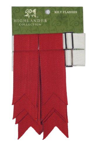 Wolle Kilt Flashes verwitterten roten - Wolle Kilt
