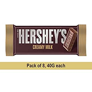 Hershey's Bar Milk, 40gm (Pack of 8) Pouch, 8 x 40 g