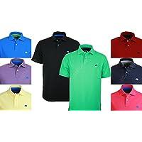 Raging Bull Nueva Firma Polo Camiseta de, Hombre, New Signature, Negro, S