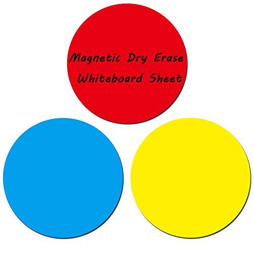 Anumit Whiteboard-Whiteboard-Blatt, magnetisch, trocken abwischbar, Kreise, für Kühlschrank und Metalloberflächen, ideal für Bohrmaschinen und Training, Schule, Lehrfortschritt, 32,6 cm, 3 Stück