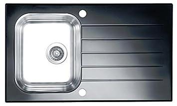 alveus einbauspüle edelstahl-glas-spüle glassix 10 küchen ... - Spülbecken Küche Edelstahl