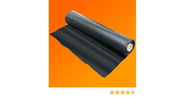 500G Plastic Sheet Protection Cover Wide QVS Shop 4M X 3M Black Polythene Sheeting 125Mu