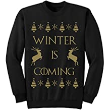 Mens Womens Winter is Coming Christmas Jumper Sweatshirt S-XXL