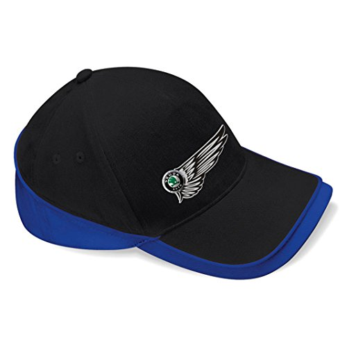 mmshop18 Skoda - Auto Flügel Baseball Cap Mütze -c116 (sw-blau)