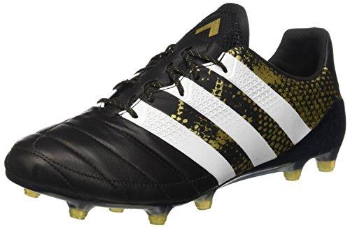 adidas Ace 16.1 FG Leather, Chaussures de Football Homme Noir (Cblack/ Ftwwht/ Goldmt)