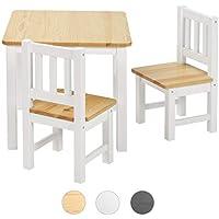 BOMI Kindersitzgruppe Amy aus Kiefer Massiv Holz für Kleinkinder, Mädchen und Jungen