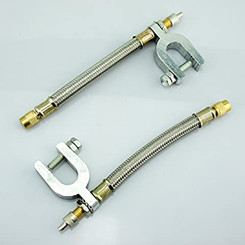 2 Truck Car Vehicle Tire Valve Extension Adaptor Stainless Steel
