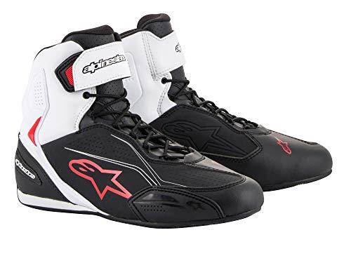 Alpinestars - Stivali Moto Faster-3 Shoes Black White Red - 43