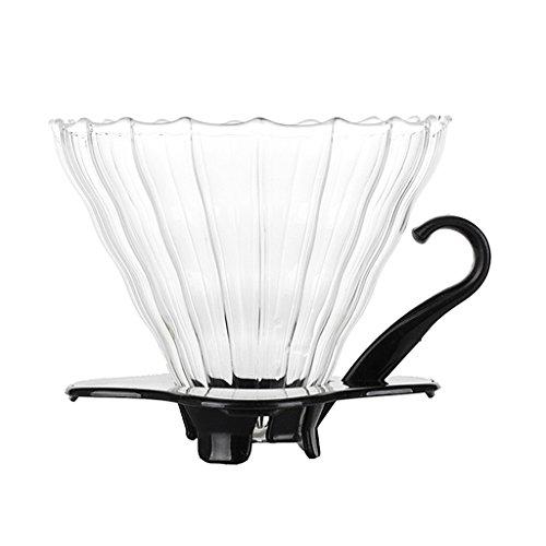 Baoblaze Kegel Förmig Kaffee Filter Outdoor Kaffee Dripper Hergestellt aus hochwertigem Glas (Filter-kegel)