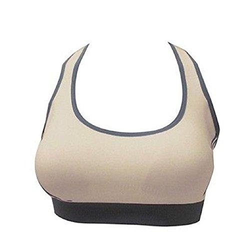 Susenstone-Le-nuove-donne-Reggiseno-imbottito-Top-Athletic-Vest-Palestra-Fitness-Sport-Yoga-Stretch-cachi-M