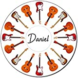Maisie Moo Gifts Limited Personalised Name Guitar Drinks Wooden Coaster