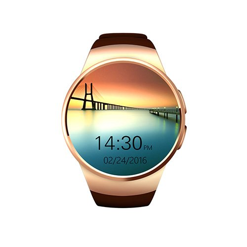 GPCT Bluetooth [Android/iOS] Touch Screen [Water Resistant] Workout/Sleep/Heart Rate Monitor Smart Watch for iPhone 7 Plus/7/6s Plus/6s/Galaxy S7/S6/S5/HTC/Sony/LG/Windows Phone- Gold