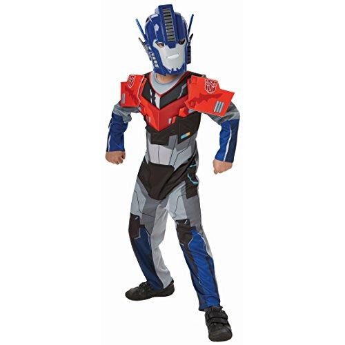 Transformers Kostüm Optimismus Prime Kinderkostüm M 5-6 Jahre 116-128 cm Transformer Roboterkostüm Roboter Filmkostüm Lizenz Transformerskostüm Jungen Comic Helden Faschingskostüm Karneval Kostüme - Cooles Transformer Kostüm