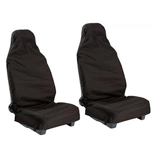 WINOMO 2stk Vorne Universal Wasserdichtes Nylon Auto Van Fahrzeug Sitz Abdeckung Schutz Sitzbezüge (Schwarz)