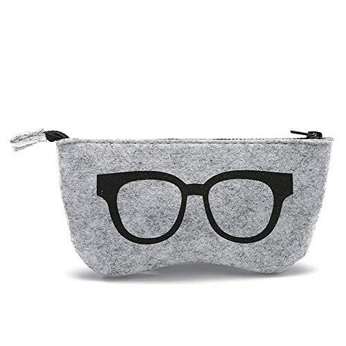 QSFGHJKUV Federmäppchen Brillenetui 5 Stück neue Filz Brillen Tasche Mode personalisierte Reißverschlusstasche Großhandel High-End-Multifunktions-Sonnenbrille Tasche, schwarz