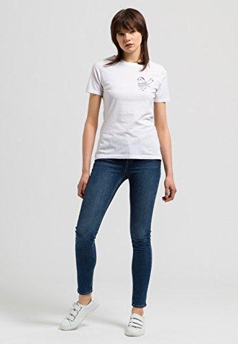 ARMEDANGELS Damen Print T-Shirt aus Bio-Baumwolle - Lida Little Bird - GOTS, ORGANIC, CERES-008 White