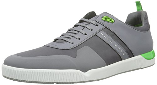 Boss Green Feather Tenn Nyhf 10191380 01, Baskets Basses Homme Gris (Med Grey 030)