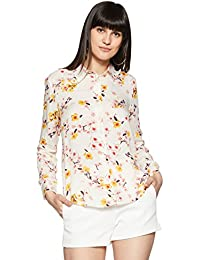 Styleville.in Women's Comfort fit Off White Printed Full Sleeve Shirt