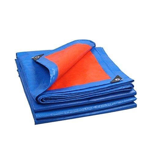 Plane Plane-regendichte Tuch-wasserdichter Plane Ultraleichte Dreirad-LKW Plane-Schatten-Schutz, Stärke 0.35mm, 180g / m2, Blau + Orange, 12 Größen-Wahlen, Anmerkung: Kaufen Sie nur auf einmal 2 * 2 C