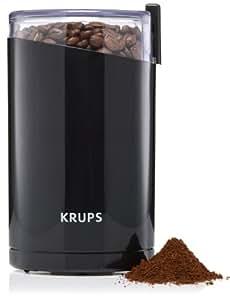 Krups F2034210 Moulin à Café Électrique Fast Touch Broyeurs Grains Épices Fruits Secs Moudre 200W Noir