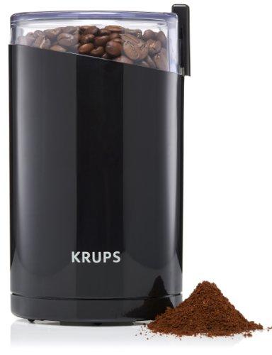 Krups 203042 - Zwillingsmesser Kaffeemühle in Schwarz