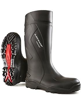 Dunlop Modell Purofort +, schwarz, Gummistiefel mit Stahlkappe und Trittschutz