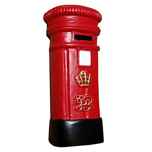 Ceramica scatola/cassetta postale britannico Magnete Souvenir. London GB UK Souvenir/Speicher/Memoria. Dipinto a mano in ceramica da collezione cassetta postale/cassetta delle lettere Magnete. Aimant/Magnet/Magnete/Imán.