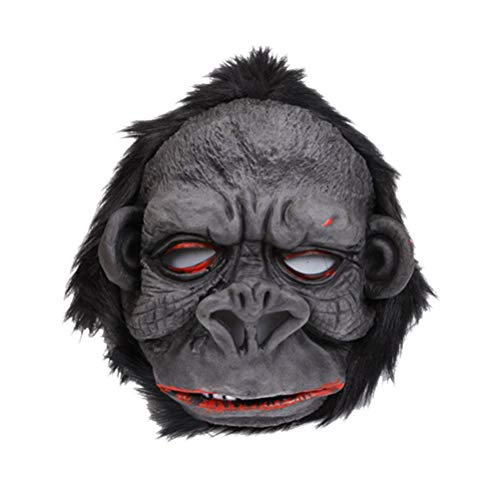 AMOSFUN Gorilla Maske Halloween verkleiden Sich Kostüm Kinder Erwachsene Gefälligkeiten (Gorilla Kind Halloween Kostüm)