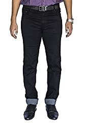 0-Degree Mens Stretchable Jeans (0DJEMay16MagBlack34_Black_34)
