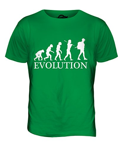 CandyMix Rucksacktourismus Wanderer Evolution Des Menschen Herren T Shirt Grün