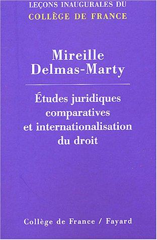 Etudes juridiques comparatives internationales