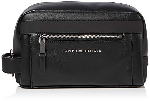 Tommy Hilfiger TH Metro Washbag, Borse Uomo, Nero (Black), 1x1x1 Centimeters (W x H x L)