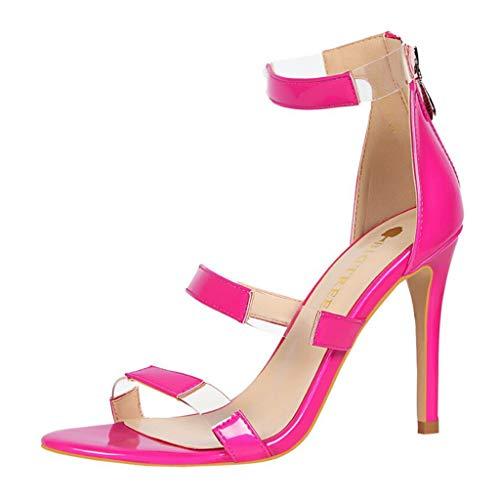 Subfamily❀nightclub femminile in tinta unita scavato con sandali moda tacchi alti sottili ballerine scarpe romane boemia scarpe da sposa festa della mamma sandali da spiaggia