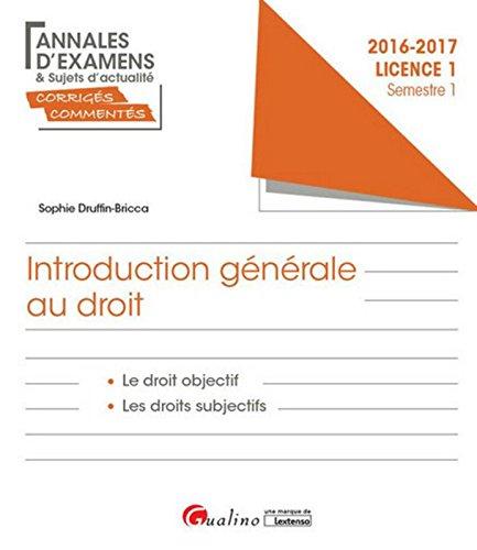 Introduction générale au droit - L1-S1