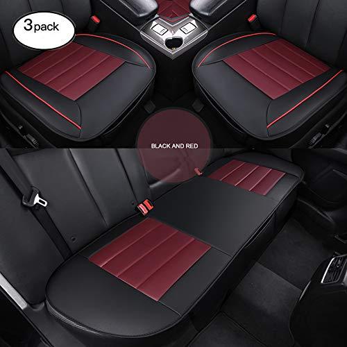 HCMAX Lusso Morbido Coprisedile per Auto Cuscino Tampone Stuoia Protettore per Forniture Automatiche per Sedan Hatchback SUV - 2 + 1 Coprisedili Anteriori e Coprisedili Posterio