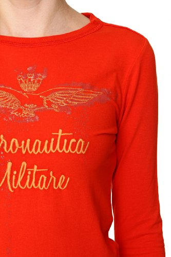 Aeronautica Militare Damen Shirt Langarmshirt DOMENICA Rot