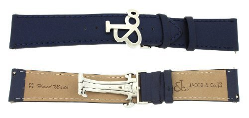 jacob-co-genuine-real-satin-blue-band-strap-22mm-for-47mm-watch