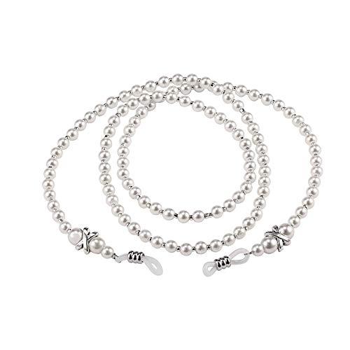 Women Handmade Fashion Imitation Pearl Beaded Eyeglass Eyewears Sunglasses Strap Rope Reading Glasses Chain Cord Holder -