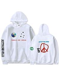 1e1bf2d643961 JJZHY Travis Scotts Astroworld Moda Simple Moda Color sólido Sudaderas para  Hombres y Mujeres