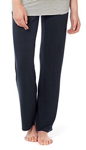 Noppies Umstands-Loungehose Pyjama Hose Damen Umstandsmode Nachtwäsche 20555 20550 20565 (M, C165 - Dark Blue)