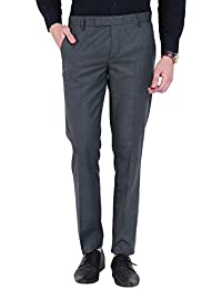 Try This Men's Formal Trousers - Olive Green