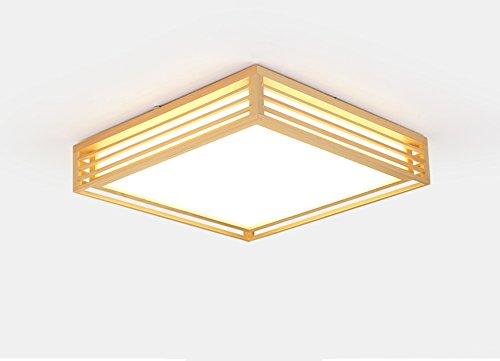 Peaceip Lampe de Plafond LED en Bois Massif en Fibre de Bois Nordique, Lampe en PVC Lampe de Plafond en Bois élégante en Bois (lumière Blanche) (Taille : 65cm)