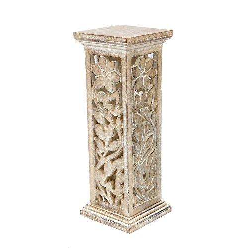 Store Indya, Mano in legno intagliato Holder Incenso Stick Tower & Cono bruciatore con il taglio di Lavoro Casa Decor Accessori