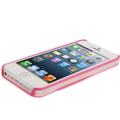 SCSY-phone case Caso protettivo traslucido della cassa del rilievo di Apple per il iPhone 5 & 5s & SE ( Color : Magenta ) Magenta