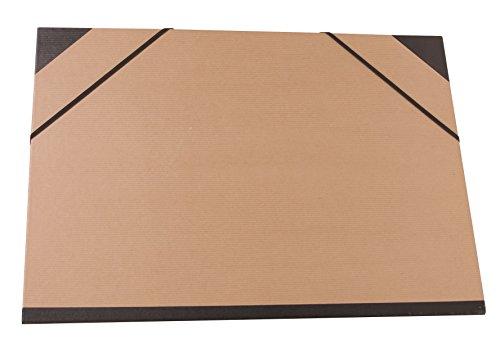 Clairefontaine 44100C Kraft Zeichenmappe (Gummizug, Rücken 30 mm, DIN A3+, innen: 29,7 x 42 cm, außen: 32 x 45 cm, ideal zur Aufbewahrung Ihrer Werke) braun