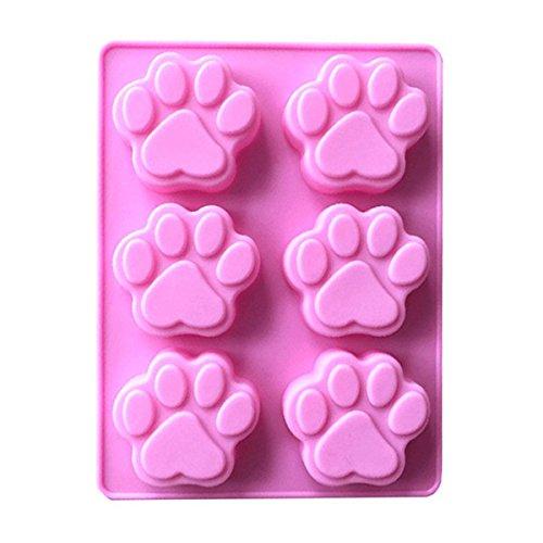 Nicedeal Silikon-Backform für Welpen, Haustiere, Hunde, Pfoten, Knochen, Welpen, Haustiere, Katzen,...